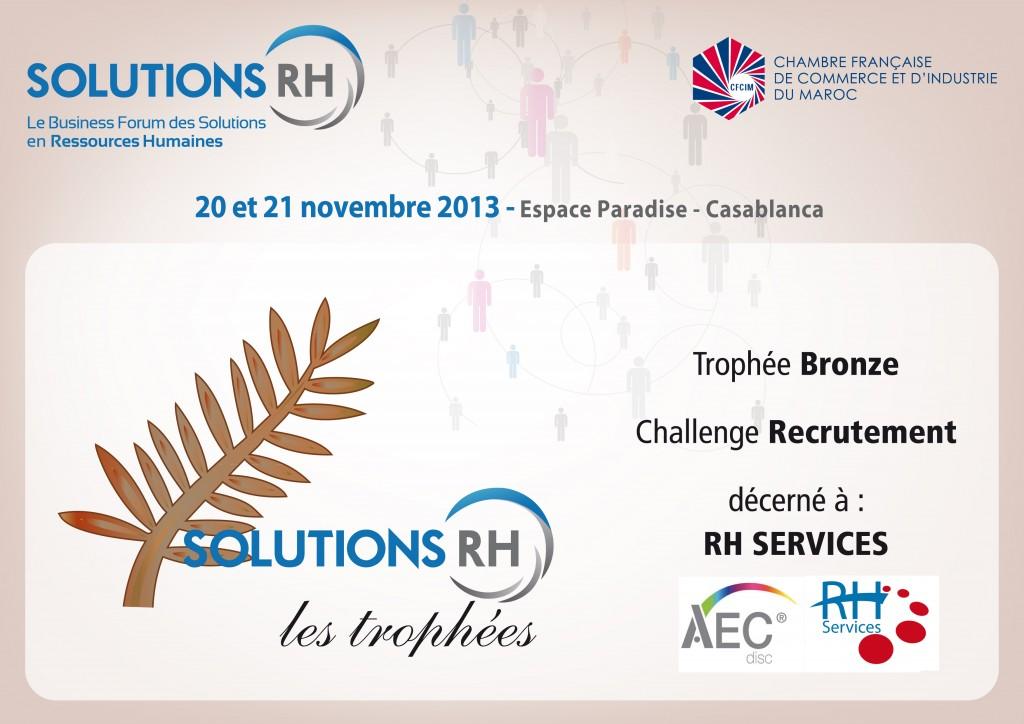 Trophée de Bronze-AEC & RH Services
